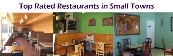 Top rated restaurants in small towns