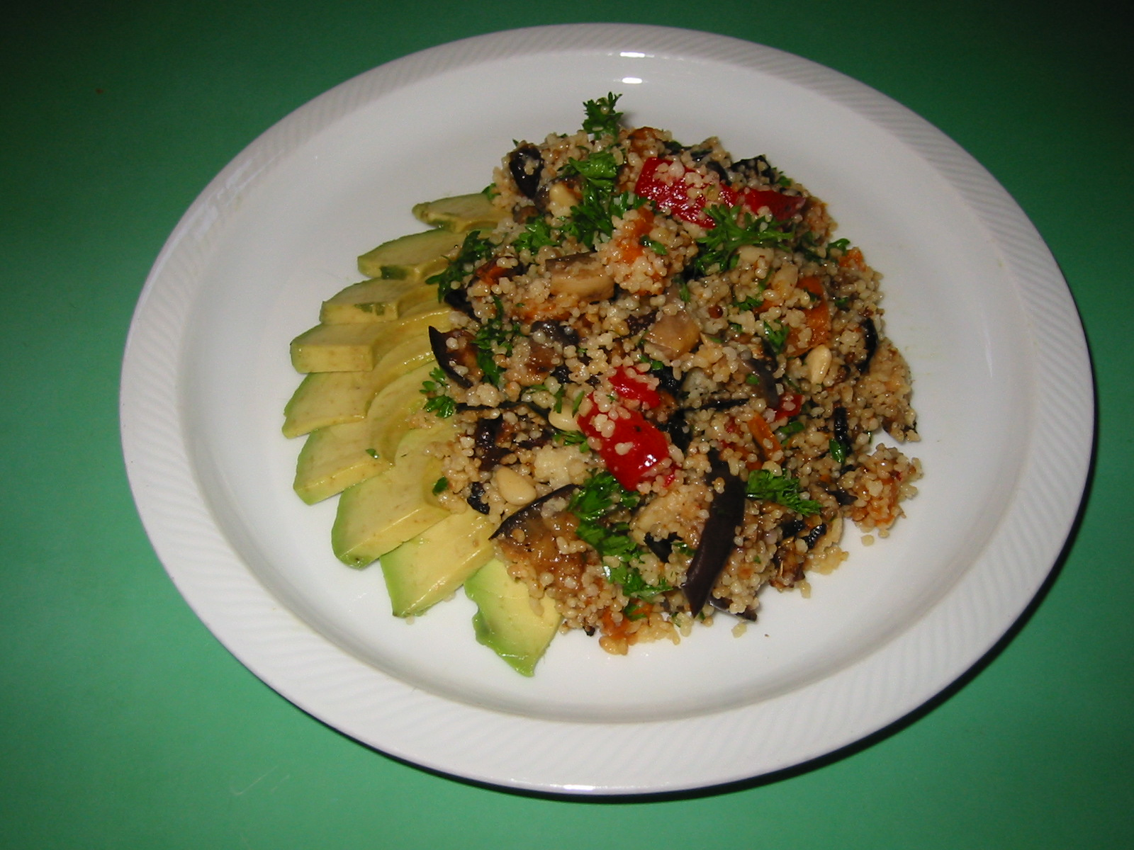 couscous and roasted vege salad