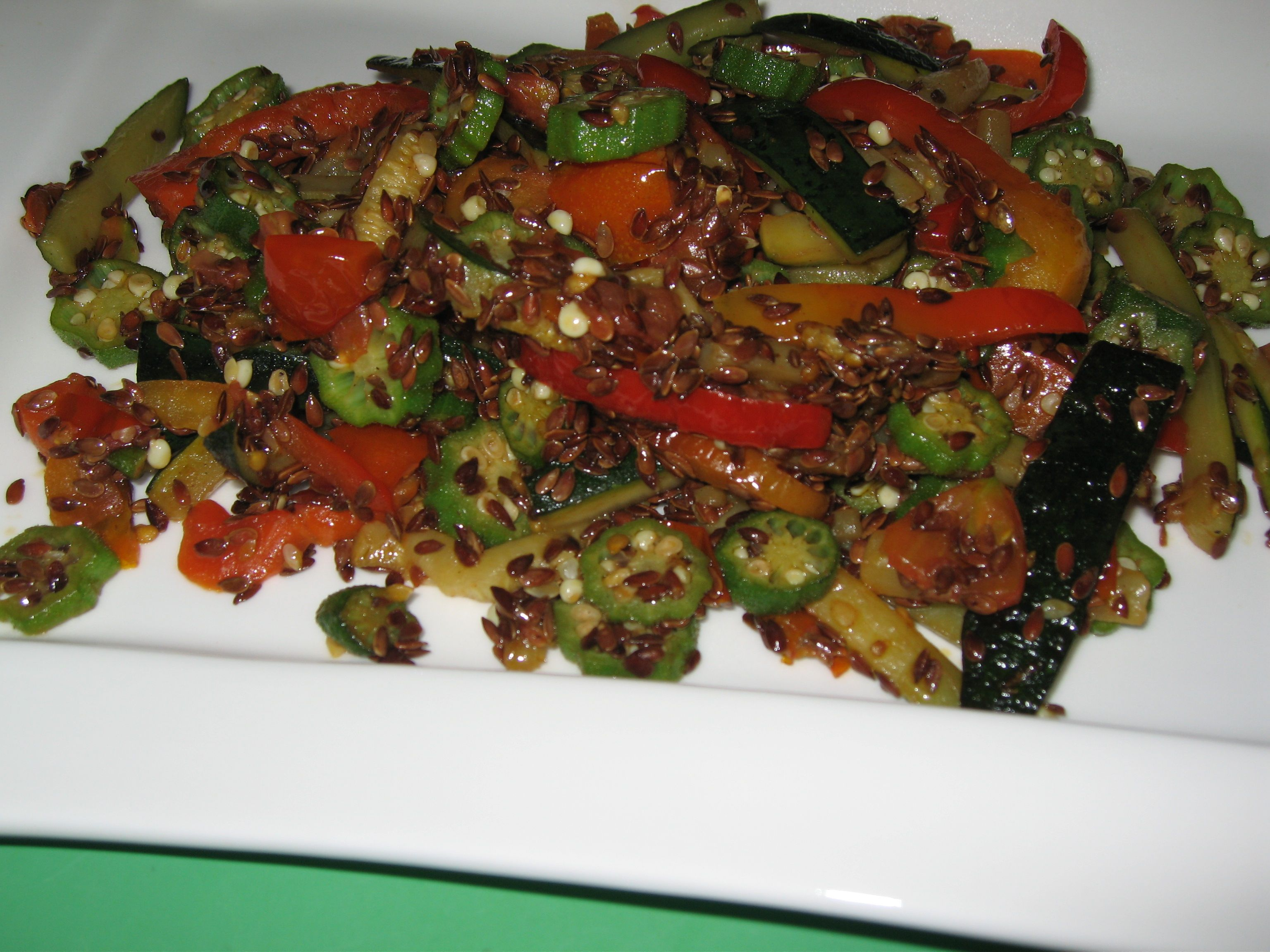 stir-fry with linseeds
