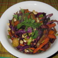 stir-fry with red kidney beans