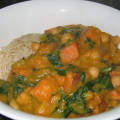 sweet potato & pumpkin curry