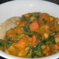 sweet potato & pumpkin curry