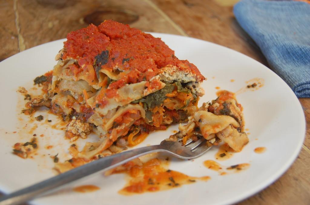 Slow Cooker Lasagna (vegan and full of veggies)