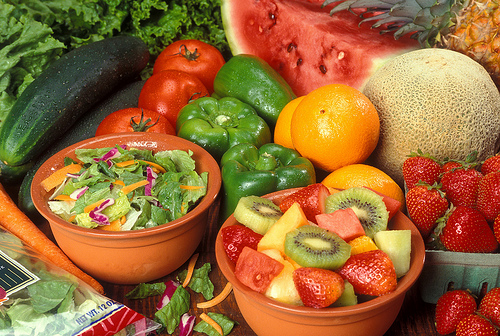 Fruits and veggies Credit USDAgov cc by 2.0