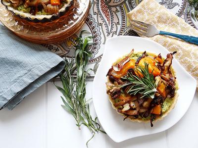 mini veggie tartletts with spinach tofu ricotta