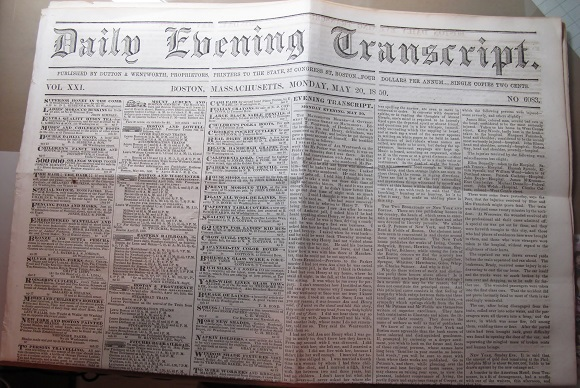 1850-newspaper-front-page