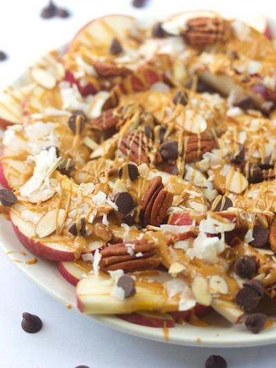 vegan apple nachos healthy recipe
