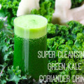 Super Cleansing Green Kale & Coriander Drink