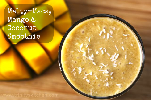 Malty-Maca, Mango & Coconut Smoothie