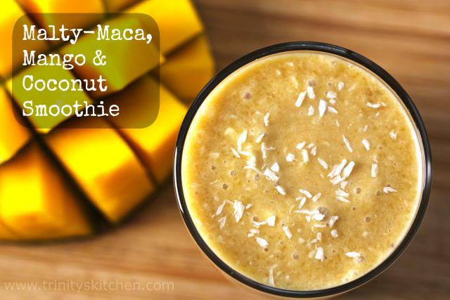 Malty-Maca, Mango & Coconut Smoothie