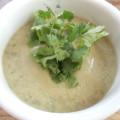 vegan cream of potato and lentil soup