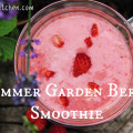 vegan summer garden berry smoothie