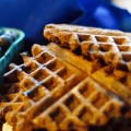 blueberry chocolate waffles vegan