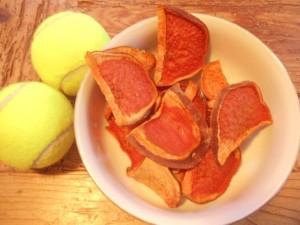 vegan sweet potato dog ear treats