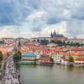 The Charles Bridge and Prague Castle