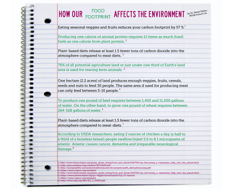 infographic food diet affects environment carbon footprint