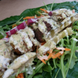 """Wow this is a really good falafel!"" Crispy herb rich flavorful falafel slathered in tahini sauce with arugula wrapped in a collard green leaf. This is how I discovered Ihsan's Falafel […]"