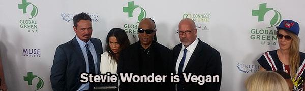 Stevie Wonder Vegan Global Green Pre Oscar Party 2016