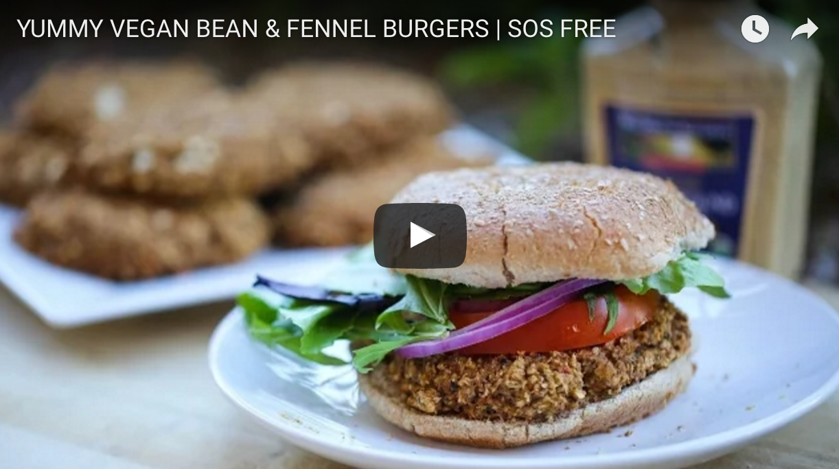 Vegan Bean And Fennel Burgers