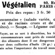Sharing some more old items from our Ernest Bell Library – items connected to – Végétalisme historique / Historical Veganism. The French were 20+ years ahead of the British in creating the names […]