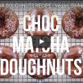 Chocolate Matcha Vegan Donuts