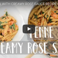 Quick And Easy Penne Pasta With Creamy Rose Sauce (Vegan)