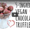 Five Ingredient Vegan Chocolate Truffles
