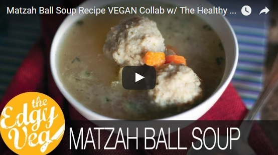 vegan matzah ball soup