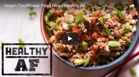 vegan cauliflower fried rice