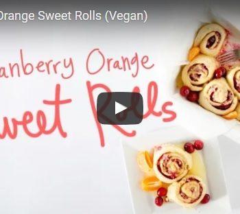 vegan cranberry orange sweet rolls
