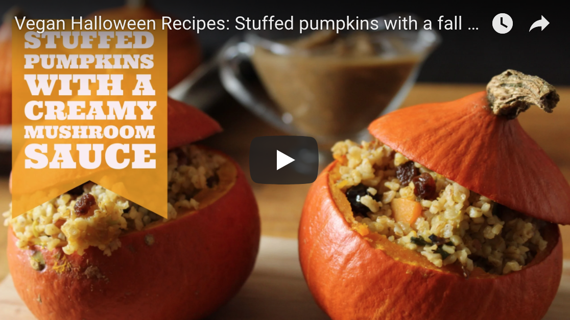 Stuffed pumpkins and creamy mushroom sauce the veggie blog - Delicious quince recipes autumns flavors on your table ...