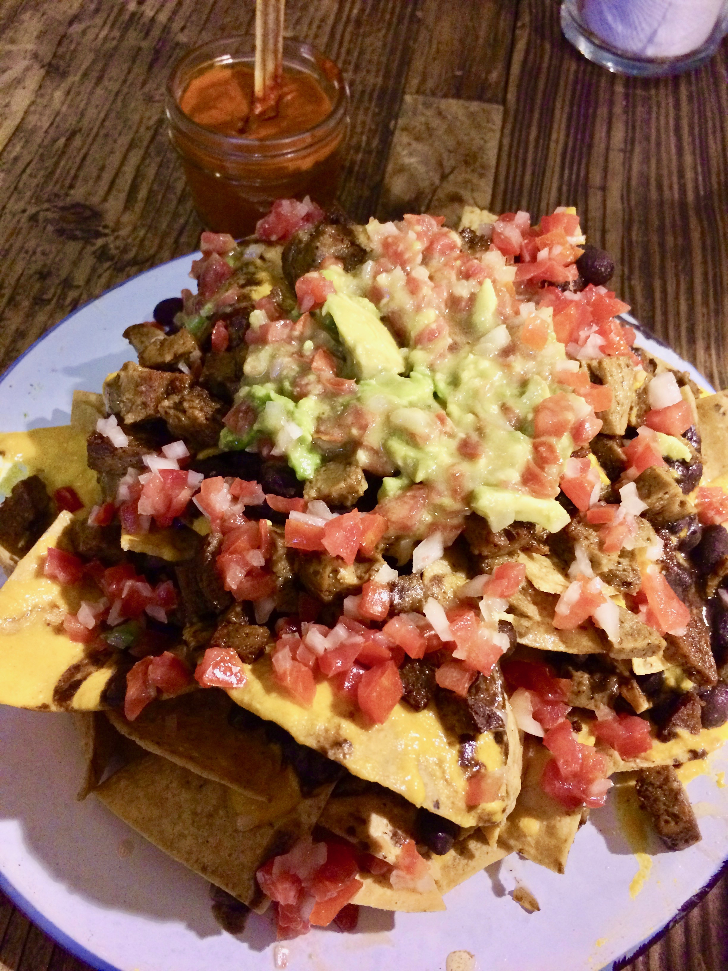 10 best spots for vegan food in mexico city the veggie blog covered in heaps of guacamole vegan cheese beans tomato salsas and for 60 pesos less than 4 usd they are an absolute bargain forumfinder Images