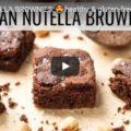 vegan nutella brownies