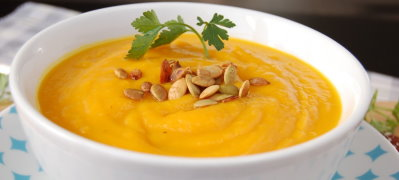 Butternut Squash Bisque with Toasted Pumpkin Seeds