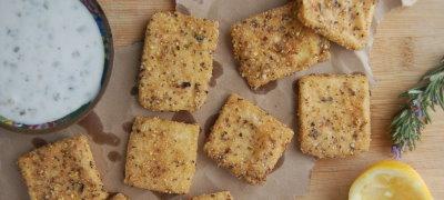 Breaded Vegan Fish Sticks with Tartar Sauce