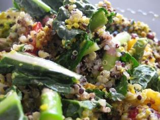 Kale, Quinoa, and Falafel Salad