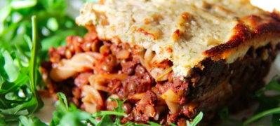 Lentil Lasagna with Cashew Cream Sauce