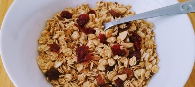 Granola with Maple Almond Cranberry
