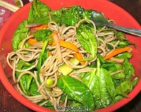Soba Tossed with Steamed Veggies and Tofu