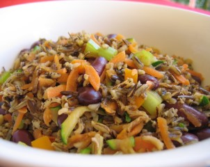 Stir Fried Wild Rice with Veggies n' Beans