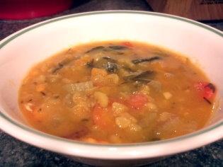 Sweet Potato Split Pea Soup