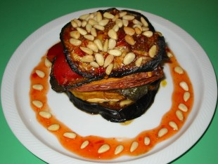 Grilled Vegetable and Tofu Stack