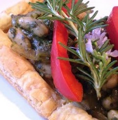 White Bean and Pesto Tart