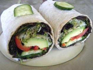 Lavash Veggie Wraps