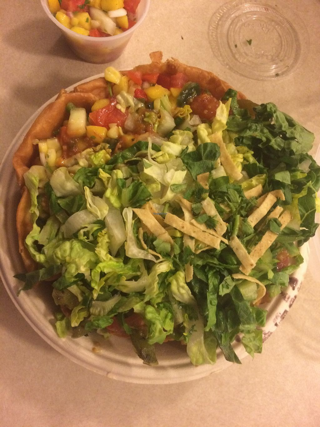 """Photo of Qdoba  by <a href=""""/members/profile/fruitiJulie"""" class=""""title__title"""" title=""""Profile of member fruitiJulie"""">fruitiJulie</a> <br/>Taco salad <br/> July 6, 2018  - <a href='/contact/abuse/image/113420/425850'>Report</a>"""