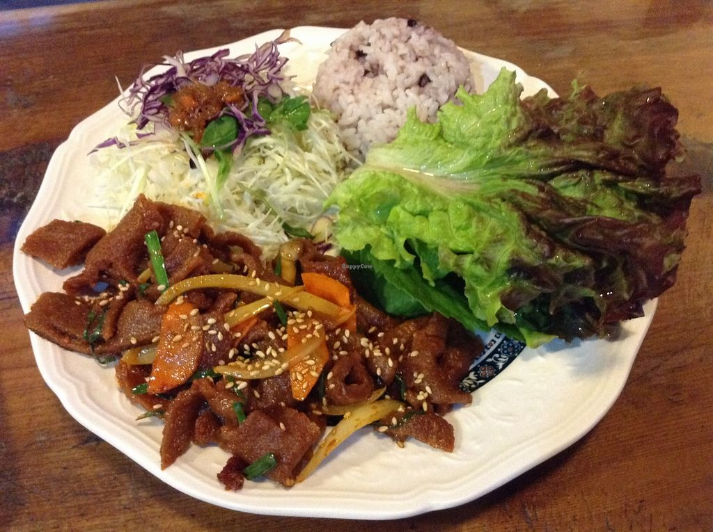 """Photo of Dajeon Cafe  by <a href=""""/members/profile/eeyoresenigma"""" class=""""title__title"""" title=""""Profile of member eeyoresenigma"""">eeyoresenigma</a> <br/>Bulgogi plate <br/> October 15, 2015  - <a href='/contact/abuse/image/51276/121382'>Report</a>"""