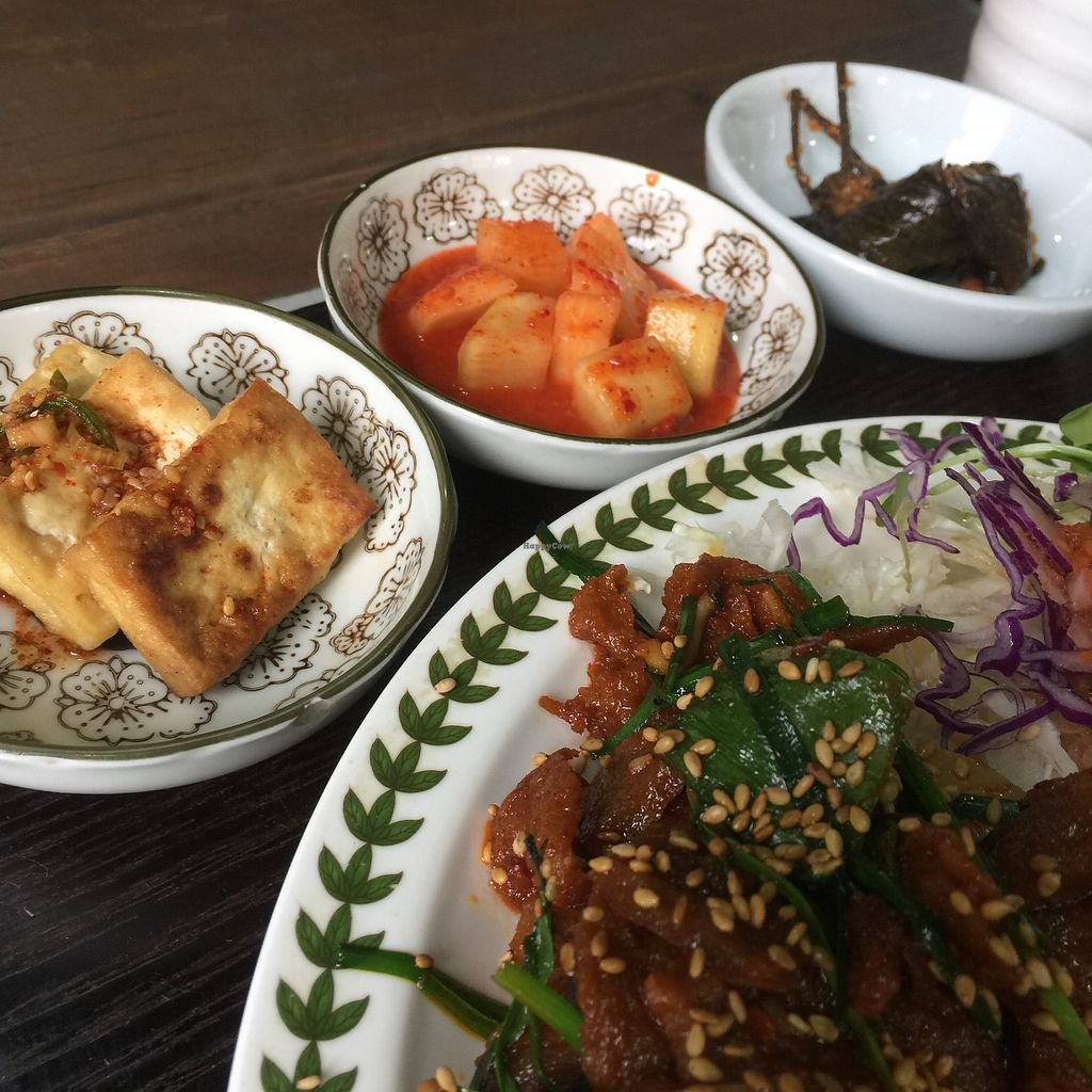 """Photo of Dajeon Cafe  by <a href=""""/members/profile/giruja"""" class=""""title__title"""" title=""""Profile of member giruja"""">giruja</a> <br/>Authentic Korean flavours à la vegan! <br/> May 2, 2018  - <a href='/contact/abuse/image/51276/393812'>Report</a>"""